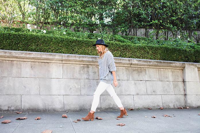 Białe spodnie z wysokim stanem - hit w stylu retro